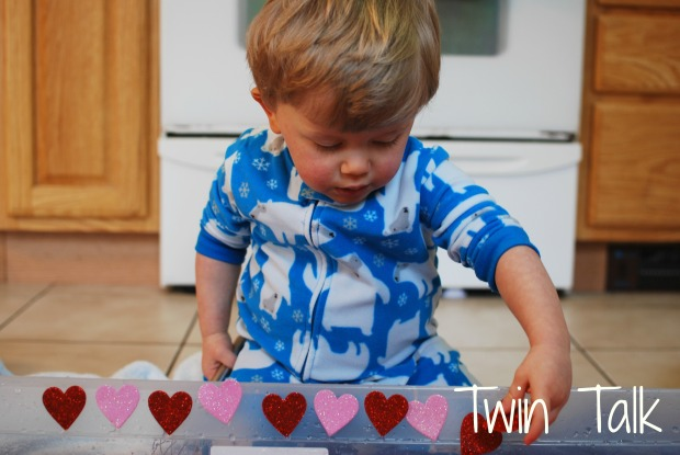 Valentine's Day Soup Water Sensory Bin