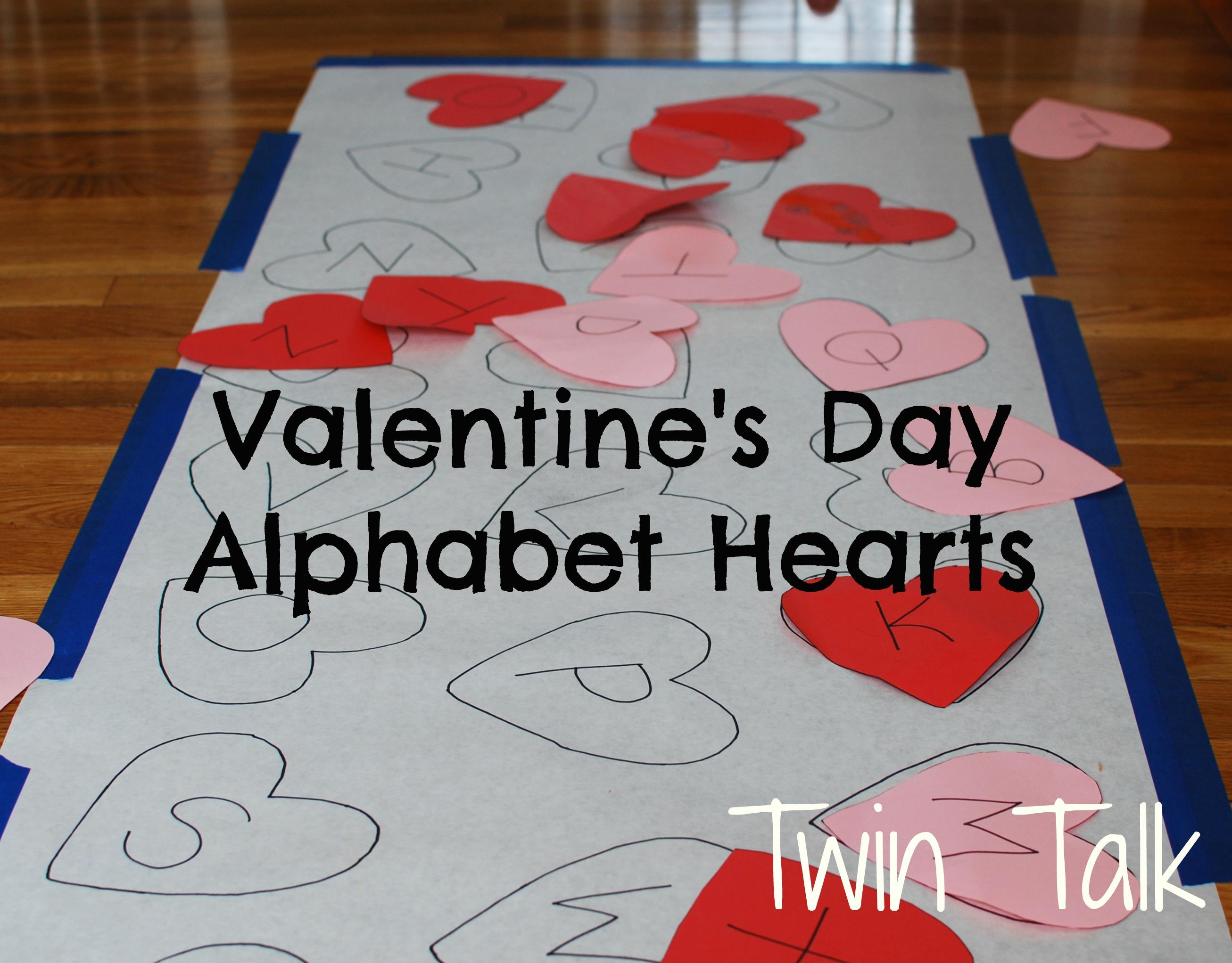 valentine s alphabet matching game twin talk. Black Bedroom Furniture Sets. Home Design Ideas