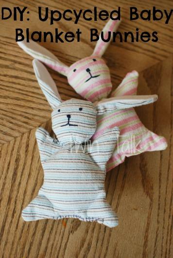 Diy Upcycled Baby Blanket Bunnies Twin Talk