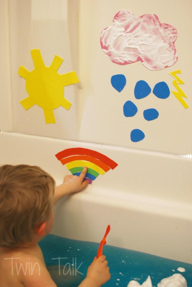 Sensory Bath Sunday: Learning About Weather!