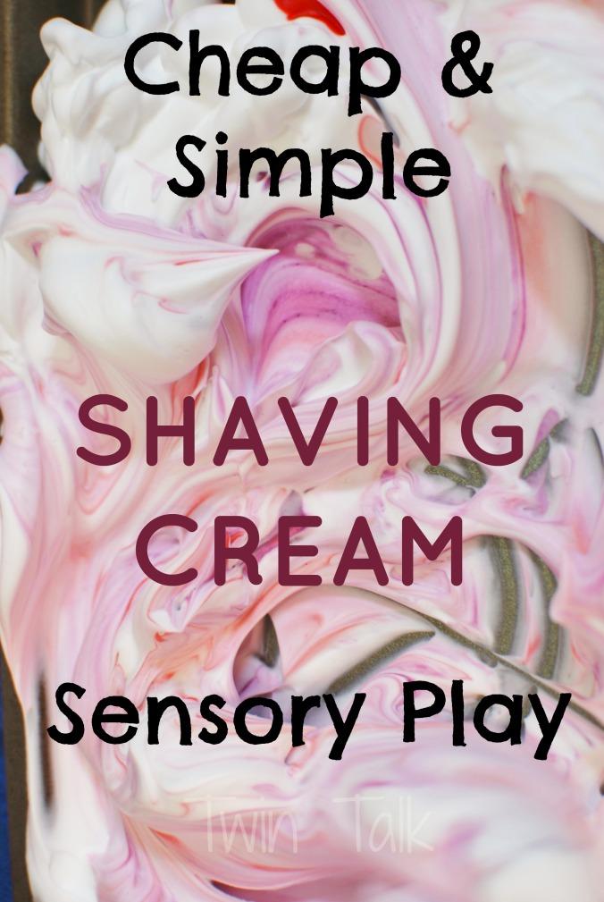 Easy Shaving Cream Sensory Bin