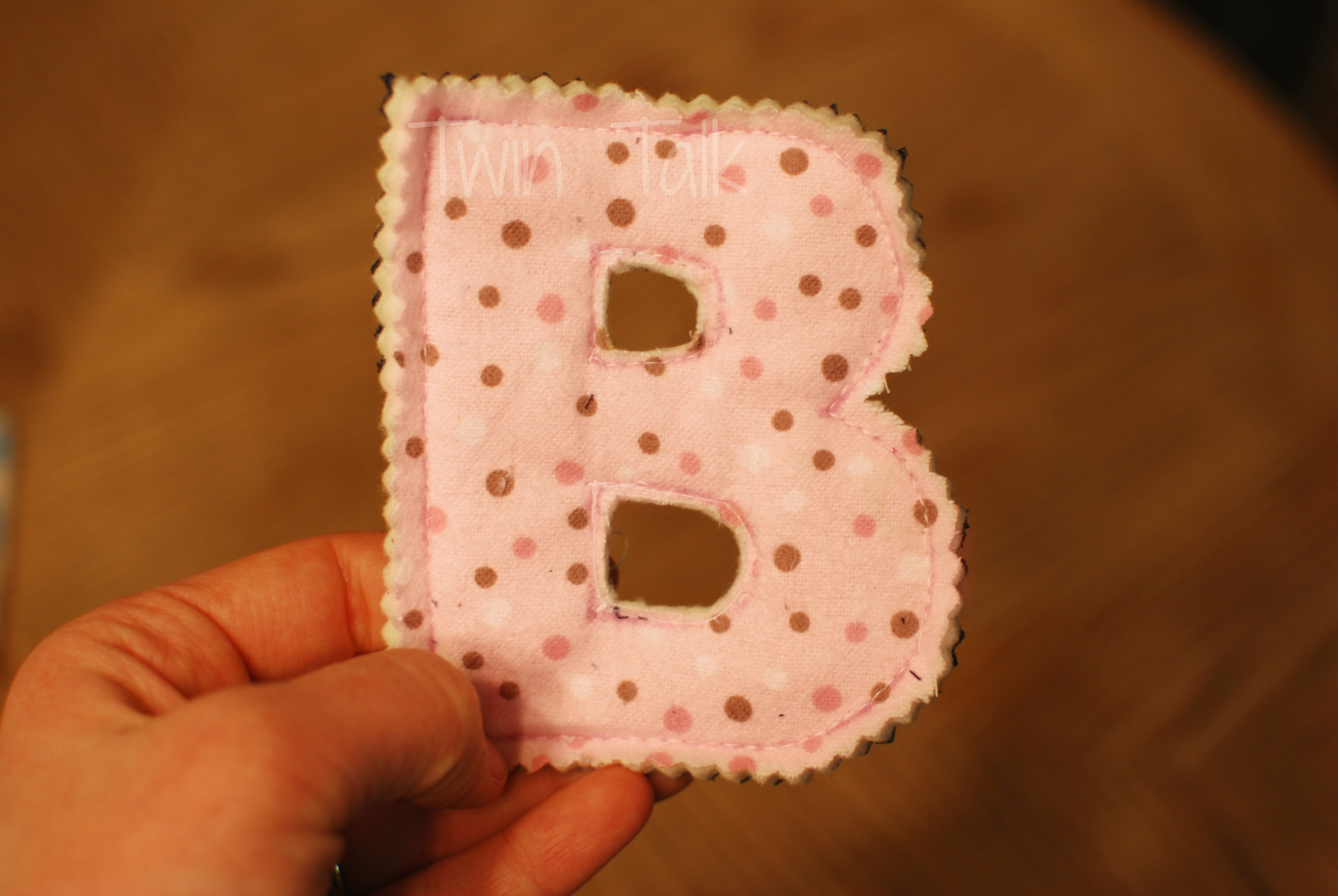 diy simple sew fabric letters