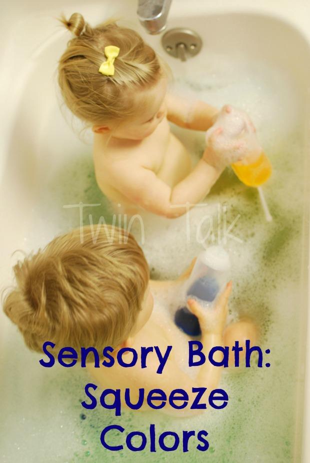 Sensory Bath: Squeeze Colors