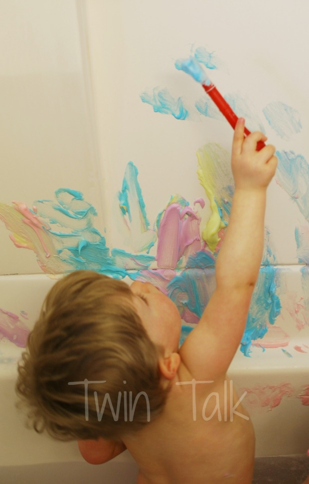 Sensory Bath Sunday: DIY Bath Paint