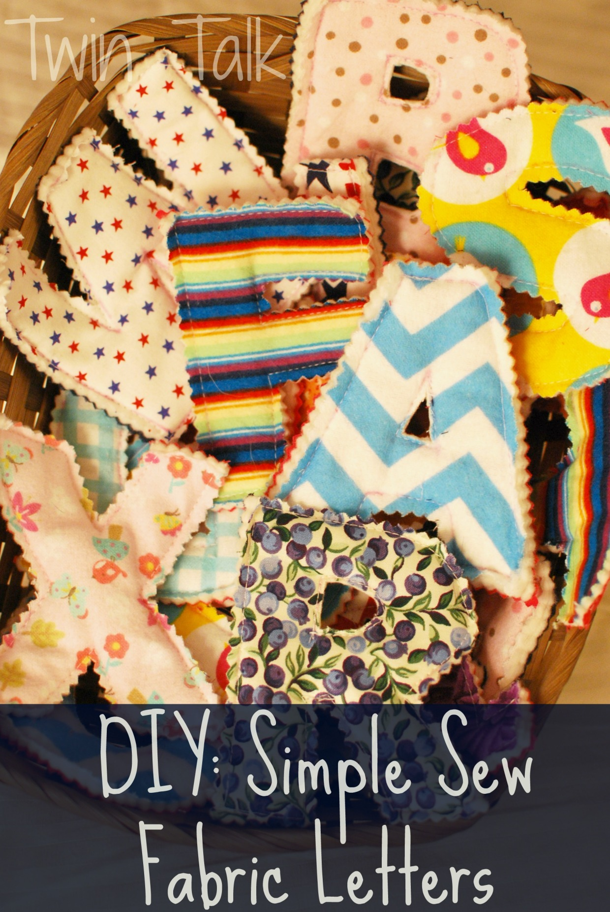 Sewing letters