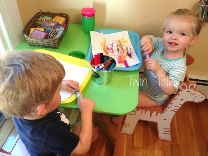 DIY Toddler Art Station